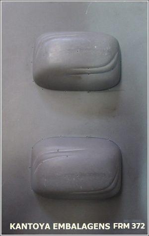 Forma Sabonete Retangular Abaulado com Frisos