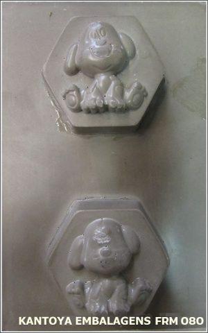 Forma Sabonete Sextavado com Cachorro
